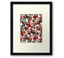 Botanical Garden on White Framed Print