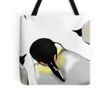 Penguins from below Tote Bag