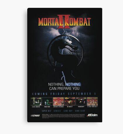 VINTAGE Mortal Kombat II  Canvas Print