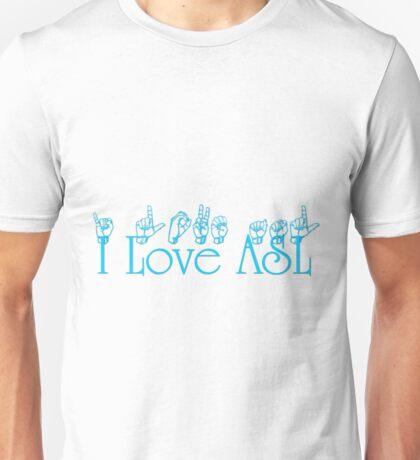 I Love ASL Unisex T-Shirt