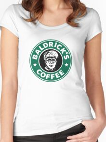 Baldrick's Coffee - Large Logo Women's Fitted Scoop T-Shirt