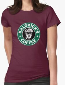 Baldrick's Coffee - Large Logo Womens Fitted T-Shirt