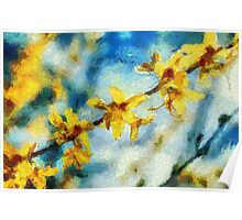 Wild Orchid Blooms Poster