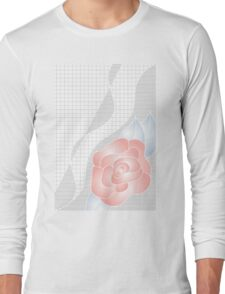 Basic Geometric Floral Long Sleeve T-Shirt