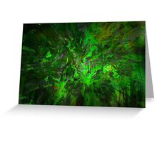 Gree Abstraction - Color Masking - Digital background Greeting Card