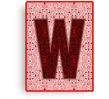 "PLAY OFF ""W"" PATTERN Canvas Print"