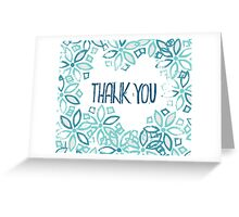 Blue thank you card with flowers Greeting Card
