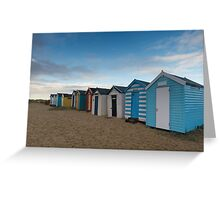 Beach Huts at Southwold Pier Greeting Card