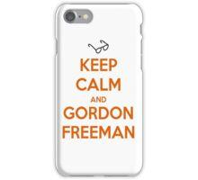 Keep Calm And Gordon Freeman iPhone Case/Skin