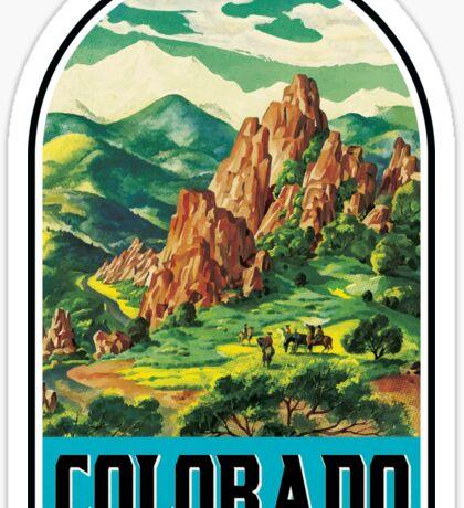VINTAGE COLORADO TRAVEL MOUNTAINS SKIING HORSE COWBOY EXPLORE HIKE Sticker