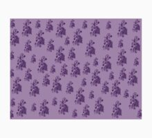 Purple, pink, violet flowers, ornament, asymetric floral design Kids Tee