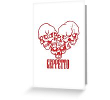 Geppetto 5 Skulls Greeting Card