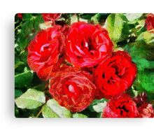 Red Roses Forever Canvas Print