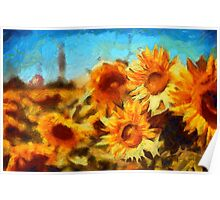 Sunflowers Van Gogh Style Poster