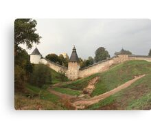 Towers and walls of the old Pskov fortress Metal Print