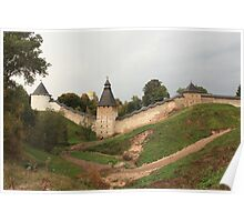 Towers and walls of the old Pskov fortress Poster