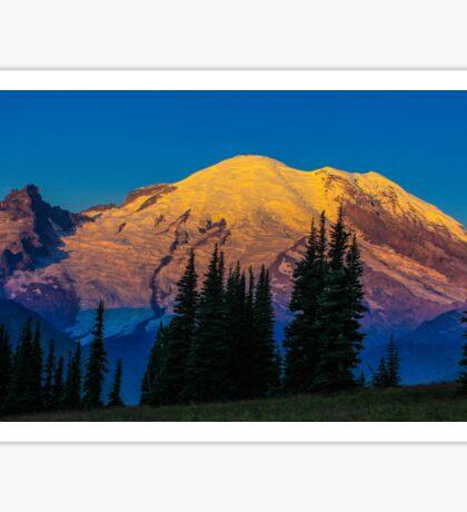 Sunrise on Mt. Rainier Sticker