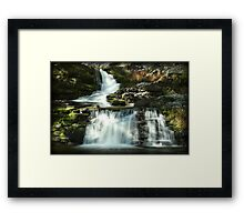 Factory Falls Autumn Glimmer Framed Print