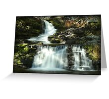Factory Falls Autumn Glimmer Greeting Card