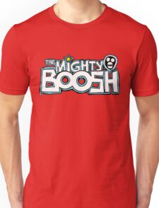 The Mighty Boosh – Dripping Blue Writing & Mask Unisex T-Shirt