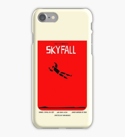 Saul Bass inspired Skyfall poster  iPhone Case/Skin