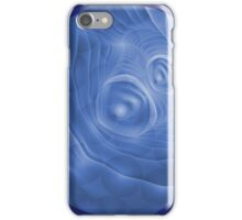 Fractal art with blue bubble  iPhone Case/Skin