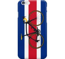 Bike Flag Costa Rica (Big - Highlight) iPhone Case/Skin