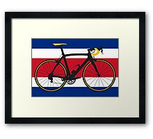 Bike Flag Costa Rica (Big - Highlight) Framed Print