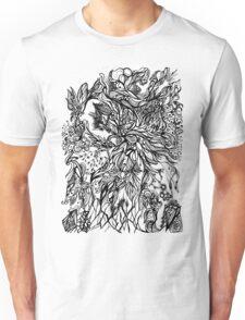 Zen Doodle 2A Black Ink Unisex T-Shirt