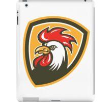 Chicken Rooster Head Mascot Shield Retro iPad Case/Skin