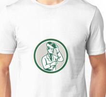 Scientist Lab Researcher Welder Circle Retro Unisex T-Shirt