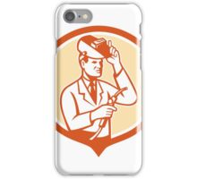 Scientist Lab Researcher Welder Shield Retro iPhone Case/Skin