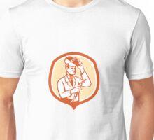 Scientist Lab Researcher Welder Shield Retro Unisex T-Shirt