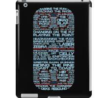 Ice Hockey Rink Typographic  iPad Case/Skin