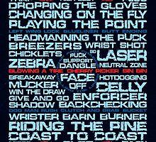Ice Hockey Rink Typographic  by icoNYC