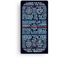 Ice Hockey Rink Typographic  Canvas Print