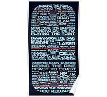Ice Hockey Rink Typographic  Poster