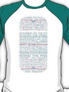 Ice Hockey Rink Typographic  T-Shirt