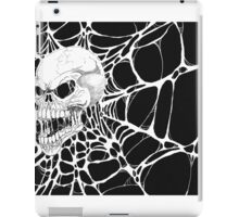 Web Skull Black And White Art iPad Case/Skin