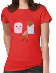 toasty (lil marshmallow + chocolate pals) Womens Fitted T-Shirt