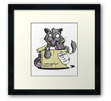 Schrödinger Cat Framed Print