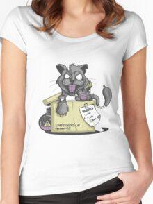 Schrödinger Cat Women's Fitted Scoop T-Shirt