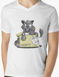 Schrödinger Cat Mens V-Neck T-Shirt