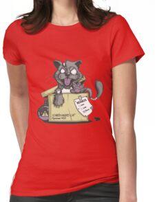 Schrödinger Cat Womens Fitted T-Shirt