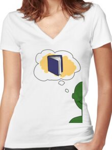 Knowledge is power Women's Fitted V-Neck T-Shirt