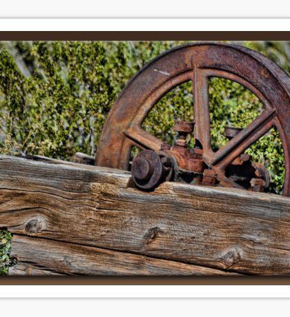 Rusty Wheel Sticker
