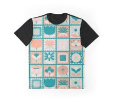 Folky Floral Stamps_Second Colourway Graphic T-Shirt