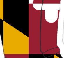 Maryland Flag Hunter Boots  Sticker