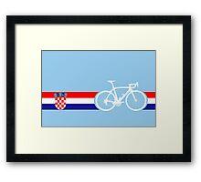 Bike Stripes Croatia Framed Print