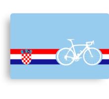 Bike Stripes Croatia Canvas Print